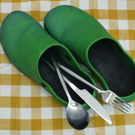 Crocks and cutlery